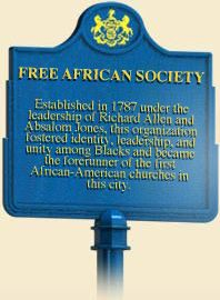 images of historical african american markers by state | ... the forerunner of the first African-American churches in this city