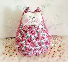 Valentine Cat Doll 6  Free Standing Kitty Rose by CharlotteStyle