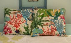 Beach House Tropical Fish Pillow by soSarahsews on Etsy