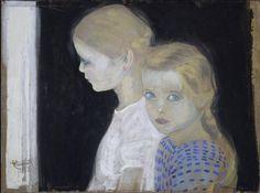 """Felice Casorati""""Le due bambine"""""""