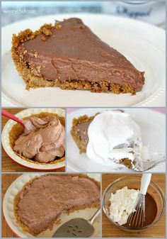 Chocolate Cheesecake Pudding Pie - Ready in as little as 10 minutes! Chocolate Pies, Dessert Chocolate, Easy Chocolate Pie Recipe, No Bake Chocolate Cheesecake, Chocolate Pie With Pudding, Chocolate Recipes, Chocolate Mouse, Cheesecake Pie, Cheesecake Recipes