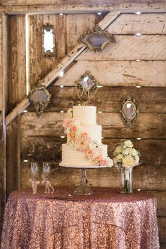 Pink and gold Carmel wedding | Photo by Danielle Poffenbarger | Read more - http://www.100layercake.com/blog/?p=76232