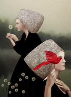 """Ilustrações digitais da italiana Daria Petrilli. Em suas palavras: """"Ilustrações para projeto pessoal, sem chefes ou editoras, apenas para o meu prazer."""" + http://blog.indiedesign.com.br/daria-petrilli/"""