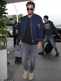 There he goes: Just one day after catching up with Kylie Jenner, Scott Disick boarded a flight out of LAX