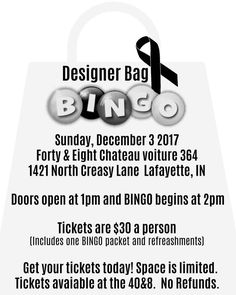 c567ef2965 12-3-17 Our first ever designer bag bingo fundraiser was a great success