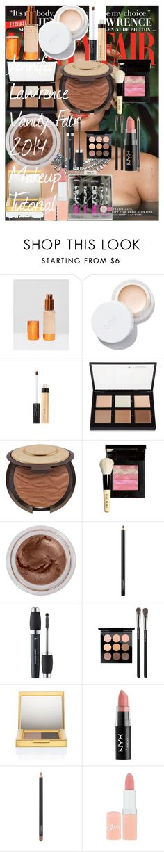 """""""Jennifer Lawrence Vanity Fair 2014 Makeup Tutorial"""" by oroartye-1 on Polyvore featuring beauty, EX1 Cosmetics, Maybelline, Anastasia Beverly Hills, Becca, Bobbi Brown Cosmetics, MAC Cosmetics, It Cosmetics, NYX and Rimmel"""