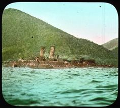 https://flic.kr/p/6Mt3UN | Wreck of the Spanish battleship The Viscaya | Partially submerged wreck of the Spanish battleship The Viscaya. Lost in the Battle of Santiago Harbor, Cuba. 1899.  Name of Expedition: Allison V. Armour Expedition Participants: Charles F. Millspaugh, Edward P. Allen, Edward S. Isham Jr.,Jordan L. Mott Jr.   Expedition Start Date: December 21, 1898  Expedition End Date: March 11, 1899 Purpose and Aims: Plant collecting and ...
