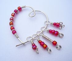 Knitting Stitch Markers With a Marker Keeper Shawl Pin