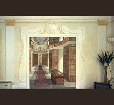 塙 雅夫 作品ギャラリー 「トロンプ・ルイユ」 平坦な壁面等に、まるで立体物があるかのように描く「だまし絵」の紹介