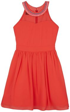 8220dc8e01c Iz Amy Byer Girls 7-16 IZ Amy Byer Lace   Floral Popover Dress with Necklace