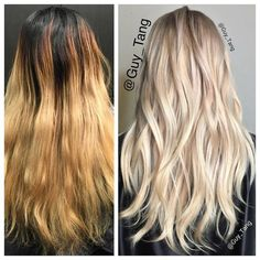 Natural level 2. Lifted the hair to a level 9. And then Shadow root with #schwarzkopf nude 9.5-49 . Relighten some uneven bands out at the same time. After I wanted heavier pigment so I deposit 8-11at roots and blondme ice midshaft and @schwarzkopfusa blondme 9+ 30VOL on ends. And tone again damp with ice for a few minutes so ends with look sheer.