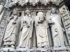 Detail of Notre Dame Cathedrale in Paris