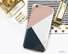 iPhone 7 géométrique coque iPhone 6 s cas iPhone par LolaCaseDesign