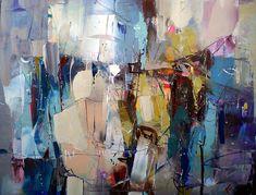 Lyubomir Kolarov: Oil Paintings On Canvas Abstract Landscape Painting, Landscape Paintings, Abstract Paintings, Oil Paintings, Contemporary Abstract Art, Photos, Pictures, Oil Painting On Canvas, Cat Art