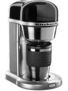 KitchenAid - Coffee Maker with Multifunctional Thermal Mug in Contour Silver Finish - Easy-to-use one cup brewing system creates a single cup of copy in minutes. thermal mug with lid keep coffee hot longer than conventional pots. 4 Cup Coffee Maker, Coffee Maker Reviews, Coffee Maker Machine, Coffee Shop, Coffee Cups, Coffee Machines, Espresso Coffee, Coffee Drinks, Bread Machines