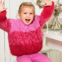Line Langmo – Dale Garn Turtle Neck, Sewing, Knitting, Crochet, Mini, Sweaters, Dresses, Fashion, Fluffy Sweater