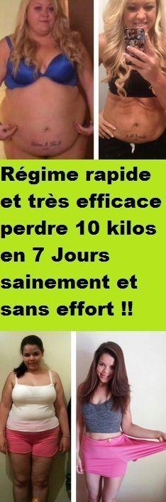 Régime rapide et très efficace perdre 10 kilos en 7 Jours sainement et sans effort !!