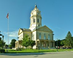 The Madison County courthouse in Winterset, Iowa.