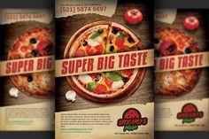 Pizza Restaurant Advertising Flyer by Hotpin on @creativemarket