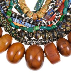 African beads are often made of many different materials, since they have been traded with folks from many other countries over the centuries. Photo courtesy of africanbeads.org. - Indigenous Dialogues: Antique African Beads
