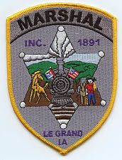 LE GRAND IOWA MARSHAL PATCH