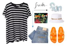 """""""Fresh & Fun"""" by musicfriend1 on Polyvore featuring R13, Nudie Jeans Co., Birkenstock, Christian Louboutin and Nine West"""