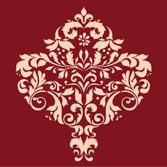 Large WALL DAMASK STENCIL Pattern Faux Mural 1001. Really pretty and available in a ton of sizes!