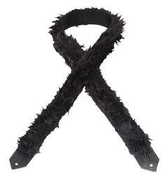 "Levys M8SFBLK 2"" Black Shag Fur Guitar Strap"