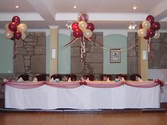 Balloon Decoration - Top Table Clouds and Tulle Dressing