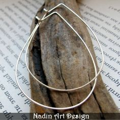 Sterlingsilber Creolen - Modern Schmuck von NadinArtDesign auf DaWanda.com