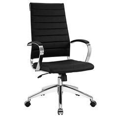 LexMod - Jive Highback Office Chair in Black