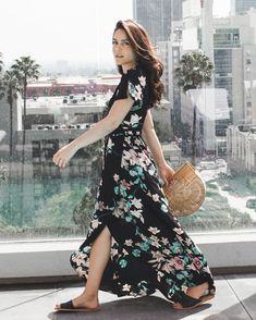 Floral Print Crêpe de Chine Maxi Dress | LE CHATEAU