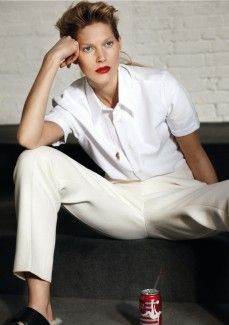 self service magazine white shirt fashion