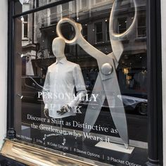 "THOMAS PINK, Jermyn Street, London, UK, ""I never run with scissors"", (Those last two words were unnecessary), pinned by Ton van der Veer"