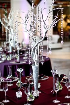 Glam wedding decor from Simply Elegant Event & Wedding Design