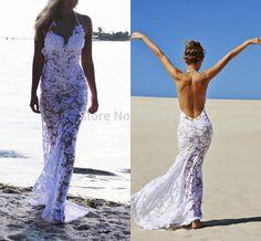 buy vestido de noiva curto mermaid lace halter beach wedding