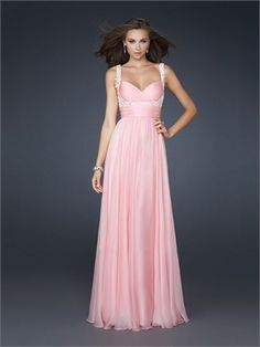 Empire Waist Chiffon Pleated Beaded With Straps and Waistband Prom Dress PD10854 www.dresseshouse.co.uk $118.0000