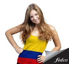 ¡Vive la fiesta del fútbol con tu mejor look!  www.fedco.com.co Tankini, Swimwear, Sports, Tops, Fashion, Football Season, Seasons, Party, Make Up