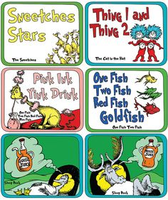Dr. Seuss - Food Label Set
