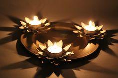 3 Lotus Candle Platter