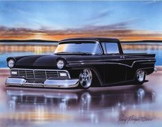 1957 Ford Ranchero Classic Truck Art Print 11x14 57
