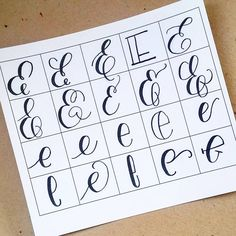 20 ways to write the letter E by @letteritwrite • see also the video of her writing the letters