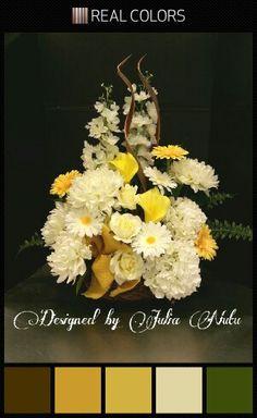 Spring floral arrangement by Julia Nutu at Michaels Store Cambridge ON