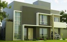 Fotos de fachadas de casas duplex   Decorando Casas