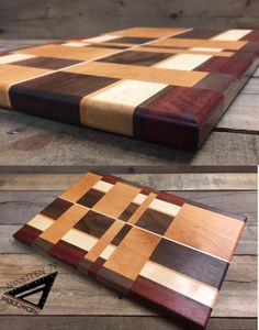 Chaos Cutting Board Cherry, Jarrah, Maple, & Walnut. More available at 1979woodwork.com