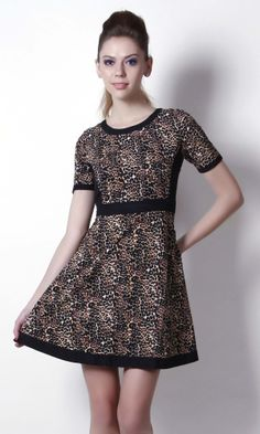 Street Style Look With Adorable Zyna Leopard Print Dress