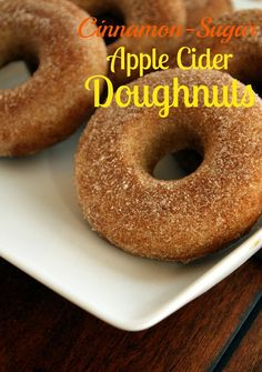 Cinnamon-Sugar Apple Cider Doughnuts {Baked} | The Marvelous Misadventures of a Foodie