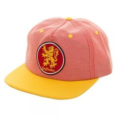 e894900f4c98e Gryffindor House Harry Potter Oxford Crest Adjustable Snapback Hat Cap  Flatbill
