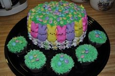 Peep Cake By kayleesgrammy on CakeCentral.com - how cute and seems fairly easy