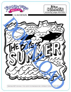 Boys of Summer Art | A FREE Printable | Lil Blue Boo - ocean week tshirt printable